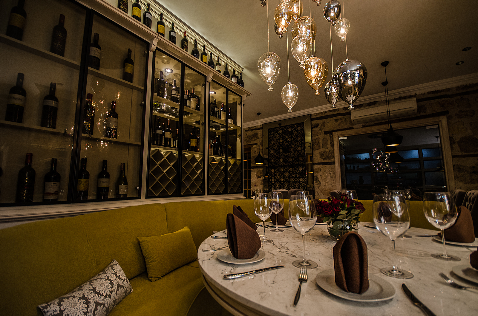 A photo of the main dining room at Vanilla.