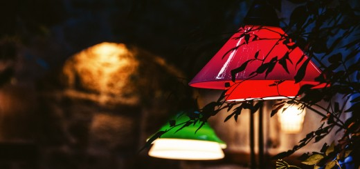 A photo of lights in the garden of Il Vicino restaurant in Antalya.