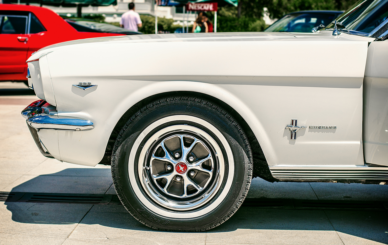 A photo of a classic Mustang car in Antalya.